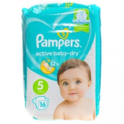 Подгузники Pampers Active Baby-Dry (5) Junior 11-16 кг (16 шт.)