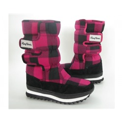 Сапоги зимние 9393-1 cotton pink KING BOOTS